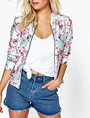hesapli Blazerlar-Kadın's Desen Basit Ceketler