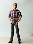 ieftine Gadgeturi de baie-Pantaloni / Ținute / Tops Altele 2 pcs Pentru Barbie Doll Amestec In / Bumbac / Material nețesut Vârf / Pantaloni Pentru Fata lui păpușă de jucărie
