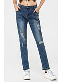 abordables Leggings para Mujer-Mujer Pre-Mamá Tiro Bajo Ajustado Vaqueros Pantalones - Un Color
