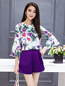 cheap Women's Two Piece Sets-Women's Blouse - Floral Skirt