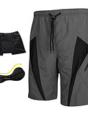cheap Men's Swimwear-SANTIC Men's Cycling Padded Shorts - Grey Bike Shorts / MTB Shorts / Padded Shorts / Chamois, 3D Pad, Quick Dry, Breathable Polyester,