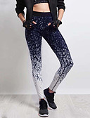tanie Damskie spodnie-Damskie Sportowy Legging - Kolorowy blok, Nadruk Średni Talia / Sportowy look