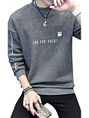 cheap Men's Hoodies & Sweatshirts-Men's Plus Size Long Sleeves Sweatshirt - Letter Round Neck
