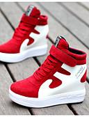 preiswerte Damen Socken & Strumpfwaren-Damen Schuhe Kunststoff Herbst / Winter Komfort Sneakers Rot / Weiß / Schwarz / Rot / Weiß / Silber