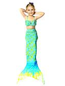 זול בגדי ים לבנות-בגדי ים גאומטרי זנב של בתולת ים / בת הים הקטנה חוף סגנון חמוד בנות פעוטות