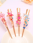 cheap Quartz Watches-Complex Classic Hairpin Hair Ornaments Palace Hairpin National Wind Hair Ornaments Diamond Tassel Step Shake Crystal Jewelry 4PCS