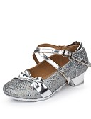 abordables Leggings para Mujer-Mujer Zapatos de danza (niños) Brillantina / Lentejuelas / Sintético Plano Lentejuela / Hebilla / Volantes Tacón Bajo Zapatos de baile