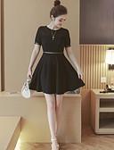 cheap Women's Dresses-Women's A Line Dress - Solid Colored High Rise