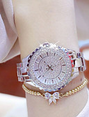 cheap Quartz Watches-Women's Luxury Watches Casual Watch Bracelet Watch Quartz Stainless Steel Silver / Gold Water Resistant / Waterproof Creative Luminous Analog Ladies Charm Luxury Casual Bangle - Gold Silver One Year