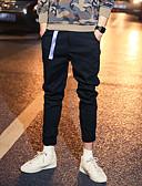 זול מכנסיים ושורטים לגברים-בגדי ריקוד גברים סגנון רחוב / פאנק & גותיות מידות גדולות כותנה רזה / צ'ינו מכנסיים אחיד / ספורט