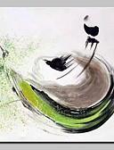 abordables Vestidos de Madrina-Pintada a mano Abstracto Abstracto Modern Un Panel Lienzos Pintura al óleo pintada a colgar For Decoración hogareña