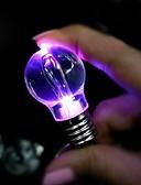 tanie Breloki-kreatywny prezent światło oświetlenie żarówka noc kolorowa dioda led latarka latarka brelok brelok