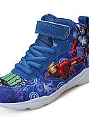 abordables Relojes de Moda-Chico Zapatos Tul / Tejido Otoño Confort / Botas hasta el Tobillo Zapatillas de Atletismo Baloncesto Con Cordón para Gris / Rojo / Azul