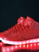 abordables Vestidos de Madrina-Mujer Zapatos Semicuero Otoño / Invierno Confort / Zapatos con luz Zapatillas de deporte Paseo Tacón Bajo Cierre Autoadherente / LED