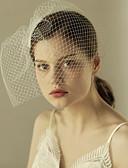 baratos Véus de Noiva-Uma Camada Corte da borda Véus de Noiva Véu Ruge com Fru-Fru Tule / Clássico