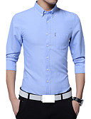 cheap Men's Shirts-Men's Plus Size Cotton Shirt - Solid Colored