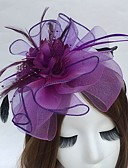 cheap Fashion Hats-Feather / Net Headbands / Fascinators with 1 Wedding / Party / Evening Headpiece