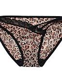 ieftine Chiloți-Pentru femei Dantelă Peteci, Leopard Chiloți Ultra Sexy Pantaloni scurți & Briefs Talie medie