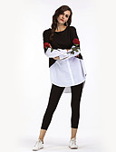 cheap Women's Dresses-Women's Holiday Vintage / Street chic Loose Shirt - Embroidery / Fall / Winter