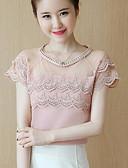 abordables Camisetas para Mujer-Mujer Blusa Un Color Nailon