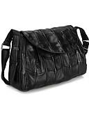 cheap Women's Dresses-Women's Bags Sheepskin Crossbody Bag Buttons / Zipper Black