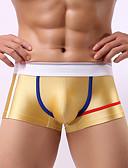 cheap Men's Underwear & Socks-Men's Sexy Boxer Briefs Color Block 1 Piece