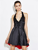 cheap Women's Two Piece Sets-Women's Street chic Sheath Dress - Patchwork Backless / Sequins / Pleated Halter Neck / Summer / Ruffles and Frills