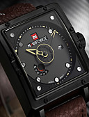 cheap Sport Watches-Men's Wrist Watch Japanese Calendar / date / day / Water Resistant / Water Proof / Creative Genuine Leather Band Charm / Luxury / Vintage Black / Brown / Noctilucent / Large Dial / Maxell2025