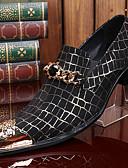 hesapli Spor Saat-Erkek Ayakkabı Nappa Leather Sonbahar / Kış Vintage Oxford Modeli Günlük / Parti ve Gece için Metalik Burun Siyah / Resmi Ayakkabı