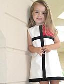 tanie Sukienki dla dziewczynek-Brzdąc Dla dziewczynek Kratka Urlop Geometryczny Bez rękawów Sukienka / Bawełna