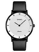 cheap Dress Watches-SKMEI Men's Wrist Watch Japanese Quartz 30 m Water Resistant / Water Proof Calendar / date / day Cool Leather Band Analog Luxury Fashion Elegant Black - Black / White Black / Gray White / Silver