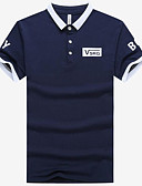 preiswerte Herren Polo Shirts-Herrn Einfarbig Polo, Hemdkragen