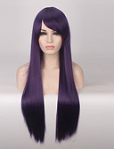 cheap Women's Dresses-Synthetic Wig Straight Synthetic Hair Purple Wig Women's Long Capless