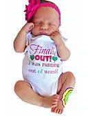 economico Completi per ragazze-Bambino Da ragazza Con stampe Manica corta Cotone Body Bianco / Bambino (1-4 anni)