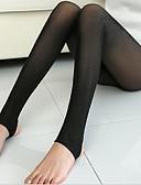 billige Leggings-Dame Fleecefor Ensfarvet Legging - Ensfarvet Høj Talje