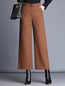 tanie Damskie spodnie-Damskie Rozmiar plus Spodnie szerokie nogawki Spodnie Jendolity kolor / Jesień / Zima
