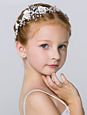 お買い得  女児 ドレス-クリスタル / 人造真珠 フラワー  -  ヘッドバンド / フラワーズ / 帽子 1個 結婚式 / パーティー / パーティー/フォーマル かぶと