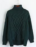 olcso Női felsőruházat-Női Pulóver - Művészeti stílus Klasszikus stílus, Egyszínű