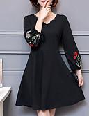 baratos Vestidos Plus Size-Mulheres Tamanhos Grandes Para Noite Bainha Vestido Bordado Decote V Acima do Joelho