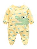 billige BabyGutterdrakter-Baby Gutt Dyr Langermet 100 % bomull Kjeledress og jumpsuit Grønn