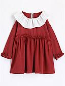 olcso Kislány ruhák-Pamut Egyszínű Ősz Hosszú ujj Lány Póló Rubin