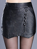 cheap Women's Skirts-Women's Plus Size Bodycon Skirts - Solid Colored