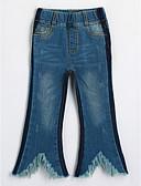 baratos Calças & Leggings para Meninas-Bébé Para Meninas Sólido Estampado Algodão Jeans