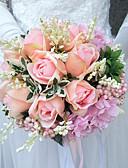 preiswerte Hochzeitskleider-Hochzeitsblumen Sträuße Hochzeit Polyester 25 cm ca.