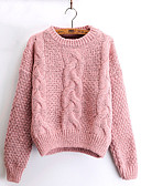 cheap Women's Sweaters-Women's Long Sleeves Mohair Pullover - Solid
