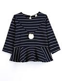 cheap Boys' Clothing-Girls' Stripe Blouse, Cotton Fall Long Sleeves Black