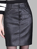 preiswerte Damen Röcke-Damen Übergrössen Bodycon Röcke - Solide