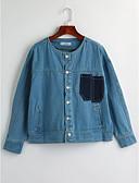 olcso Női nadrágok és szoknyák-Egyszerű Női Traper jakne - Színes