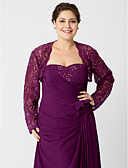 cheap Mother of the Bride Dresses-Long Sleeves Lace Wedding Party / Evening Women's Wrap With Beading Lace Shrugs