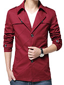 cheap Men's Shirts-Men's Cotton Jacket - Solid Colored / Long Sleeve